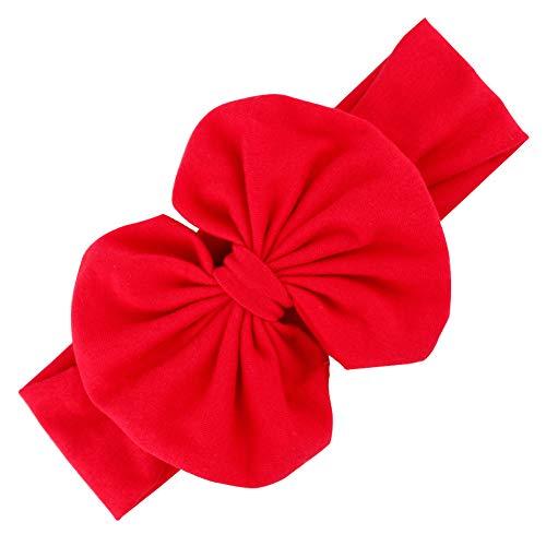 Adore store Mädchen-Stirnband mit Bowknot Ripsband Haare beugt Stirnband Großer Bogen-Haar-Bänder für kleines Baby-Rot -