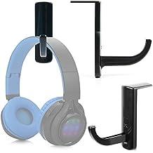 DURAGADGET Soporte / Gancho para Auriculares Philips SHB3060WT/00 / Sennheiser GSP 350 / Excelvan BT9916 / Sony MDR-ZX220BT con adhesivo fijador. Color negro.