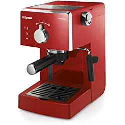 Saeco Poemia HD8423/29 freestanding Manual Espresso machine 1L Red coffee maker - coffee makers (Freestanding, Espresso machine, Red, Stainless steel, 1 L, Ground coffee)