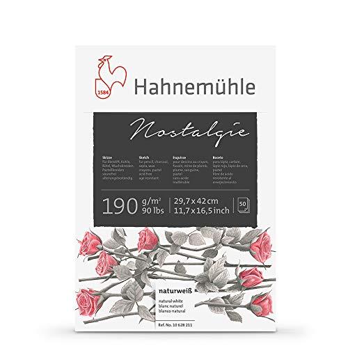 Hahnemühle Skizzenblock Nostalgie, 50 Blatt 190 g / qm Papier, DIN A3