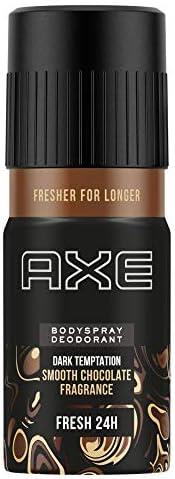 Axe Dark Temptation Long Lasting Smooth Chocolate Deodorant Bodyspray For Men, No Gas, Fresh Upto 24 Hours, 15