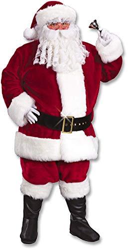 Santa Claus Kostüm Deluxe - Horror-Shop Weinrotes Santa Claus Deluxe Kostüm XL