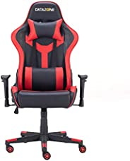 كرسي العاب للاطفال مع مسند ذراع قابل للتعديل من داتازون اسود / احمر DZ-GC06