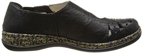 Rieker 46315/00, Chaussures de ville femme Noir