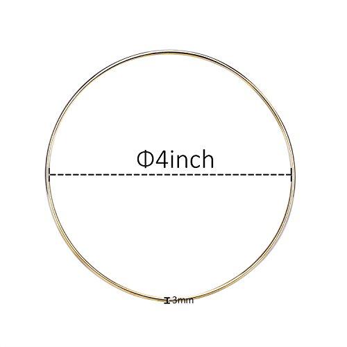 5 Stück Golden Metall Ringe Hoops Makramee Ringe für Traumfänger und Handwerk (4 Zoll)