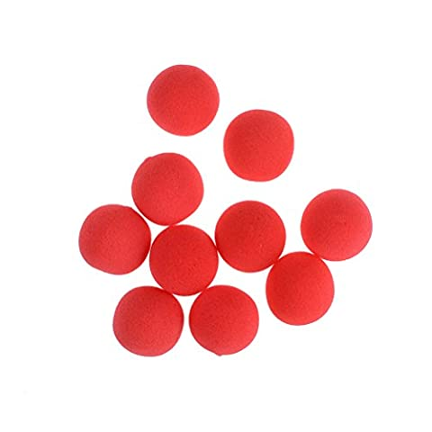 10 Pieces Red Sponge Soft Ball Close-Up Magic Street Classical Comedy Trick Props (1.77inch)