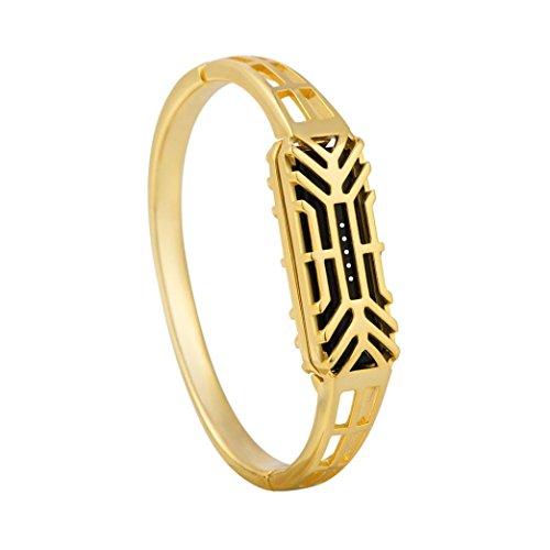 Ouneed® pour Fitbit flex 2 Bracelet Bijoux Sculpté (Or)