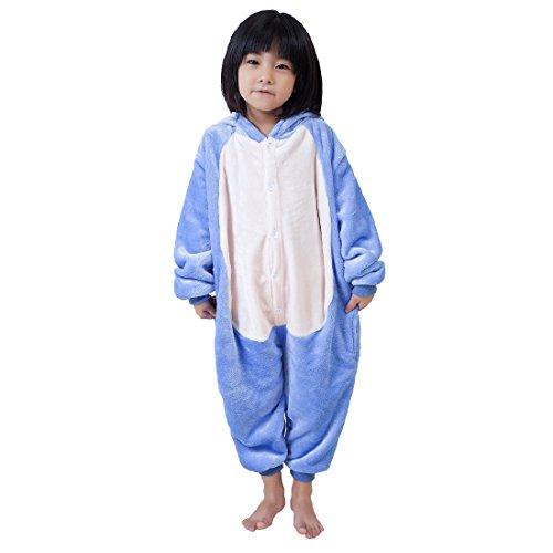 Cool&D Kinder Schlafanzug Onesie Jumpsuits Tier Pyjama Hausanzug Flanell Kostüme mit Schuhe