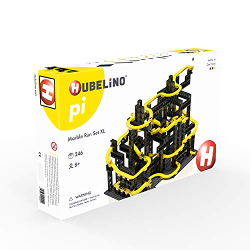Hubelino pi 440440 Kugelbahn Set XL (246 Teile), kompatibel