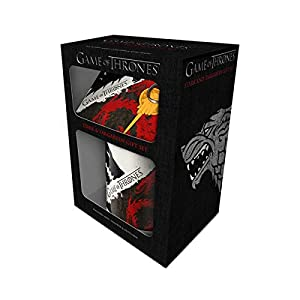 GOT - Stark Targaryen Mug, Coaster and Keychain Set 12