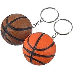Llavero de baloncesto de críquet con bolas de críquet, color marrón