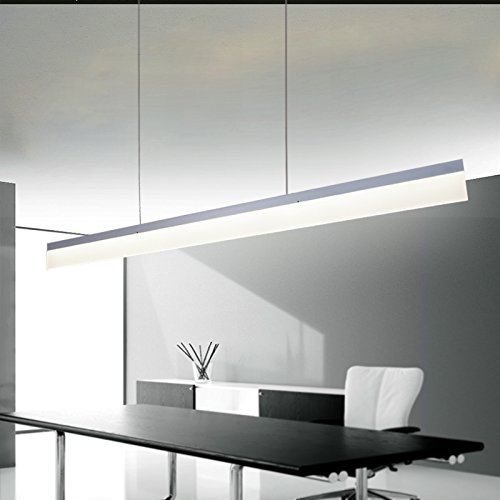 ART LAMPS moderne Büro LED Acryl mit Streifen Anhänger Kronleuchter Decke Beleuchtung Leuchte mit einstellbarer hängenden Lampen White Licht Beleuchtung Bereich 30㎡ mehr (weiß)ight Illumination area 30㎡ more (White) (Kronleuchter Leuchten)