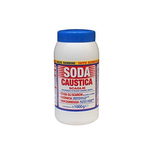 SODA CAUSTICA IN SCAGLIE kg.1 OTTIMA PER SGORGARE SGRASSARE SVERNICIARE
