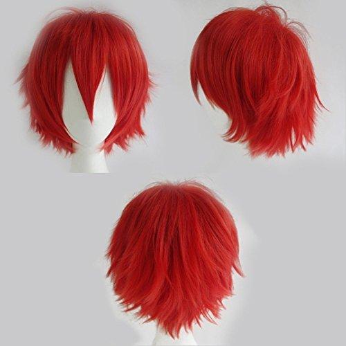 S-noilite® Unisex Kostüm Perücke Kurz Party Cosplay wig Kostueme Glatt Haar Perücken Wigs Damen Mann - ()