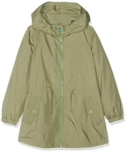 United Colors of Benetton Jacket Cappotto, Bambina, Verde (Verde Salvia 26k), One Size (Taglia Produttore:L)