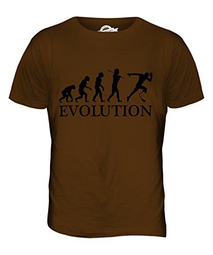 CandyMix Paralympischen Läufer Evolution Des Menschen Herren T Shirt Braun