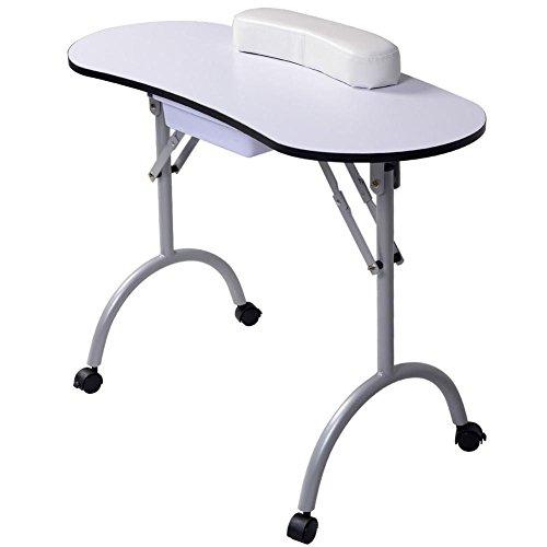 Nagel tisch Tragbar Maniküre tisch Bahnhof Schreibtisch Spa Schönheit Salon Ausrüstung Weiß Ausrüstung Zum Nägel Faltbar Nageltisch