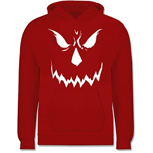 Shirtracer Anlässe Kinder - Scary Smile Halloween Kostüm - 12-13 Jahre (152) - Rot - JH001K - Kinder Hoodie