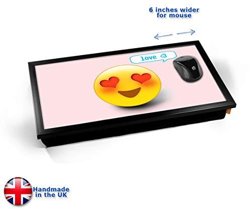 Love Emoticon Emoji Cushioned Bean Bag Laptop Lap Tray Desk - Built-in EMF Shield (Electro Magnetic...