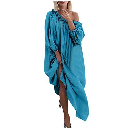 Mujer Casual Elegante Largo Suelta Vestido Boho Fuera