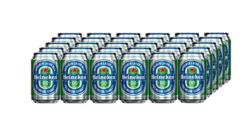 Heineken 00 Beer - Box of 24 Cans x 330 ml - Total: 7.92 L