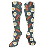Gped Kniestrümpfe,Socken Bacon and Eggs Food Compression Socks,Knee High Socks,Funny Socks for Women Men - Best Medical,Sports,Running, Nurses,Maternity,Pregnancy,Travel & Flight Socks