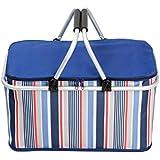 Portable Camping cesta de picnic al aire libre plegable cesta de picnic grandes cesta de almacenamiento de alimentos cestas