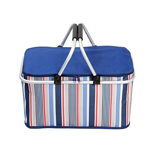 Carrello portatile all'aperto per il picnic pieghevole grande carrello da pic-nic basket cestini per l'immagazzinamento dell'alimento