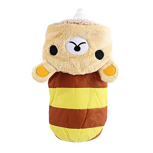 Kostüm Bär Der Leuchtende - Jadeyuan Kostüm Haustier-Versorgungsmaterial-Winter-Haustier-Hundekleidung Coral Fleece Striped Bear Haustier Transform Bekleidung (Color : Brown, Size : M)