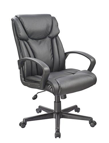 Office Factor schwarz Bonded Leder execuitive Computer Managers Konferenzräume Schreibtisch Bürostuhl Drehstuhl höhenverstellbar und sehr bequem -