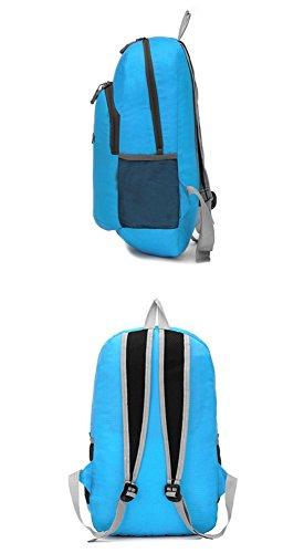 Walking Lightweight Rucksack faltbare Erholung wasserdicht Bergsteigen Pack Shopping Bag Travel Rucksack Skin Tasche für Männer und Frauen 7 Farben H44 x W32 x T20 CM black no logo