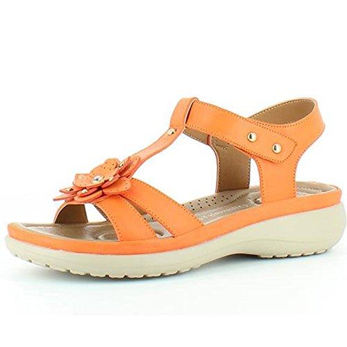 Heavenly Feet  Heavenly Feet Anita Orange Sandals, Damen Sandalen Orange