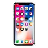 Apple MQAG2ZD/A iPhone X 14,7 cm (5,8 Zoll), (256GB, 12MP Kamera, Auflösung 2436 x 1125 Pixel) Silber