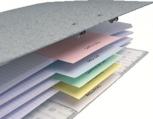 Exacompta 13395B Trennstreifen (Manila-Karton, 190g, 105x142 mm) 100er Pack zufällige Farbe