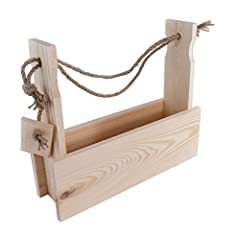 Idea Regalo - 4bottiglie in legno birra vettore con corda/Cuddy/L 35.3cm x L 10cm x H 30cm