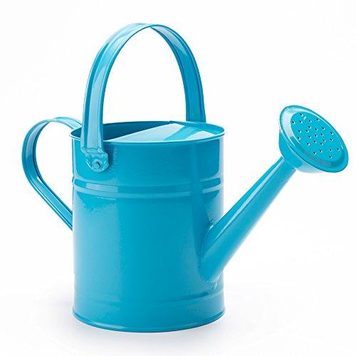 Worth 1,5 letre Metall Bewässerung, Eimer, schöne Blaue / Grüne / Rosa Kinder Garten Gießkanne mit Korrosionsschutz Pulverbeschichtung (Blau) -