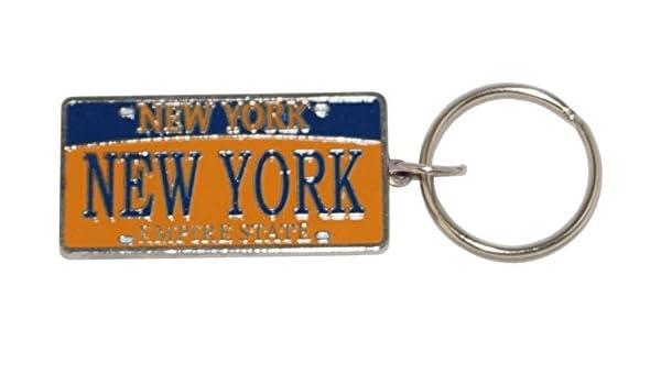 new york license plate keychain