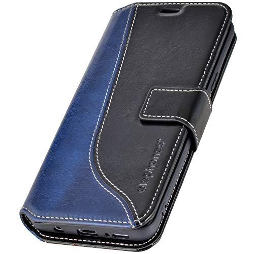 elephones® Samsung Galaxy S8 Hülle Handyhülle für S8 - Kompatibel mit Galaxy S8 Flip Case Schutzhülle - Schwarz (CTS8LAU)