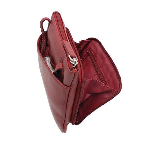 Visconti Style Borsetta in Pelle 01684 Marrone Rosso