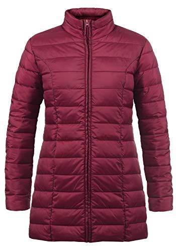 Jacqueline de yong by only britt parka giacca tranpuntata giubbino da donna con collo alto, taglia:xl, colore:red plum