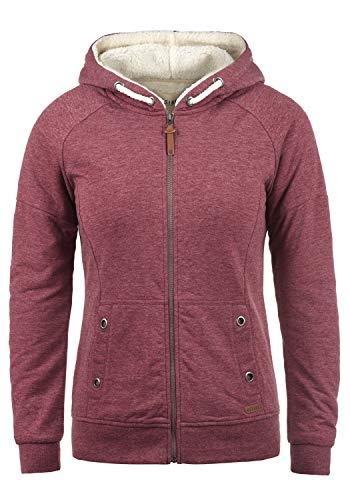 DESIRES Mandy Pile Damen Sweatshirt Pullover Pulli Mit Teddy-Futter, Größe:L, Farbe:Wine Re P (P8985)