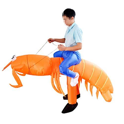 Kinder Kostüm Garnelen - LOVEPET Phi Phi Shrimp Lustige Aufblasbare Kostüm Schule Aktivität Atmosphäre Spielzeug Maskerade Requisiten Bühne Leistung Kostüm Cosplay