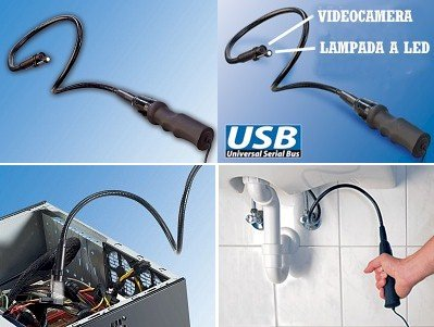 SOMIKON USB CAMARA ENDOSCOPIO VGA CON CUELLO DE CISNE SNAKE SCOPE