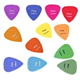 Sonline lot de 12 MEDIATOR Guitare Alice Guitar Picks 0.58mm/0.71mm/0.81mm/0.96mm/1.2mm/1.5mm