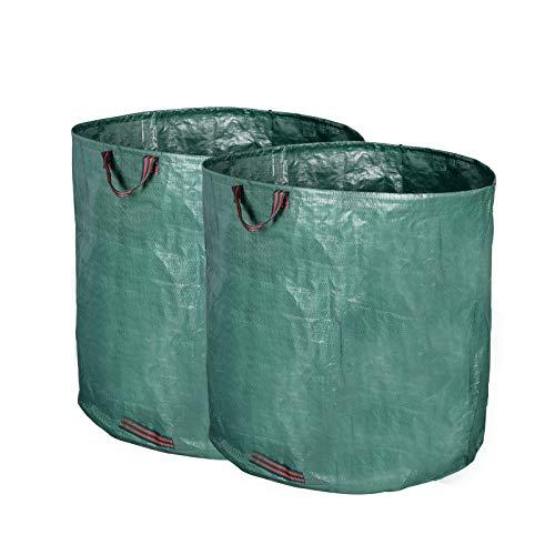 HOLISTAR 2er Gartenabfallsack 500L selbststehend Gartensäcke Laubsack Gartenabfälle Tasche faltbar (Tasco 500)