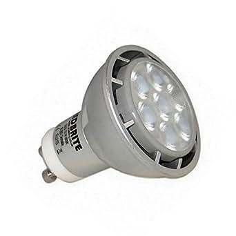 gu10 7 watts superbrite dimmable warm white led light lighting. Black Bedroom Furniture Sets. Home Design Ideas