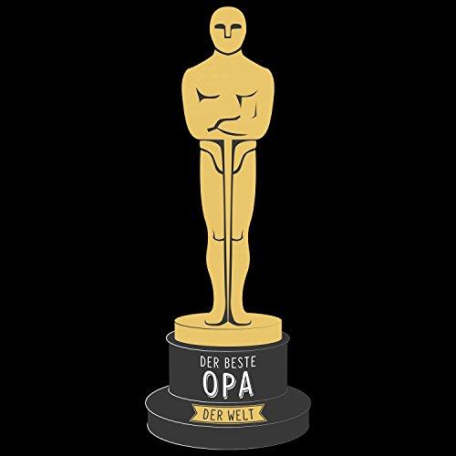 Fashionalarm Herren T-Shirt - Oscar - Der beste Opa der Welt   Fun Shirt mit Spruch als Geschenk Idee für ausgezeichnete Großväter Schwarz