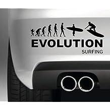 EVOLUCIîN DE SURF CAR PARACHOQUES DIVERTIDA DE ETIQUETA DE PARACHOQUE COCHE 4X4 VAN VENTANA PINTURA DECAL GRçFICO