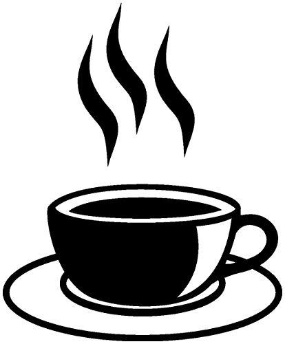 Samunshi® Wandtattoo Kaffeetasse Teetasse Küche in 6 Größen und 19 Farben (16x20cm schwarz)