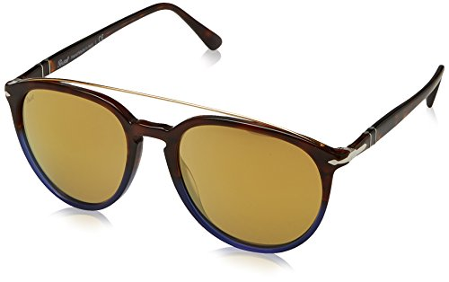 Persol Herren 0Po3159S 9045W4 55 Sonnenbrille, Blau (Terra Oceano/Brown),